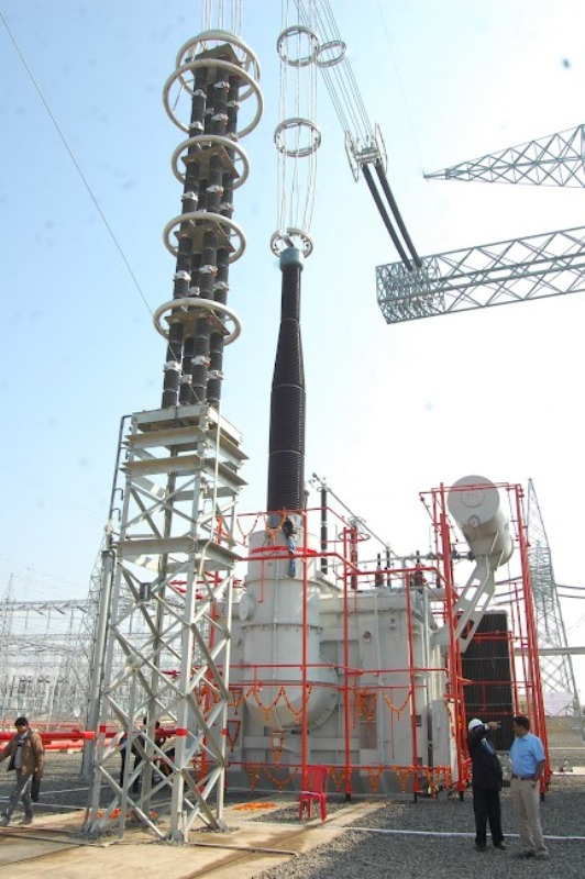 1200kV Single phase transformer and 850kV Multi column Surge Arrestor