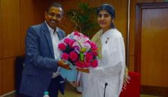 Sister Shivani of Brahmakumaris delivered a lecture to employees on 20.10.2016